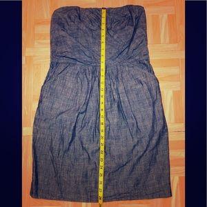 French Connection strapless denim tube dress
